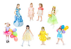 Festively dressed children royalty free stock photo