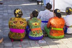 Festively dressed women in Hindu ceremony, Nusa Penida, Indonesia Royalty Free Stock Photos