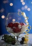 Festively verfraaid huisbinnenland met Kerstboom Royalty-vrije Stock Foto