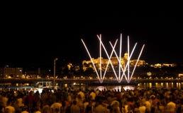 Festividad nacional en Budapest Foto de archivo libre de regalías
