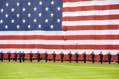 Festividades do Memorial Day antes do jogo de Red Sox Imagem de Stock Royalty Free