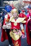 Festividades para celebrar Año Nuevo chino en Londres por año de Fotografía de archivo libre de regalías