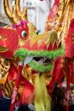 Festividades para celebrar Año Nuevo chino en Londres por año de Foto de archivo