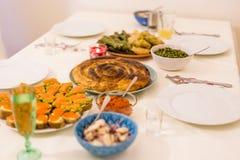 Festività bulgara di notte di Natale Fotografia Stock