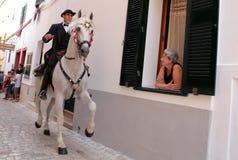 Festivité de cheval de St John au loin Photos stock
