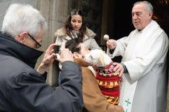 Festiviteit van St.ANTON. Madrid.SPAIN Stock Fotografie