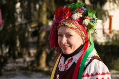 Festivities on Christmas day in Gomel Royalty Free Stock Photos
