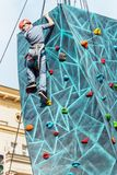 Festivities in honor of the birthday of the 870th anniversary of. Moscow, RUSSIA - September 10, 2017: sports and games on Tverskaya street. Festivities in honor Royalty Free Stock Photography