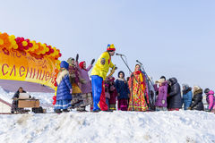 Festivities at the Russian celebration of Maslenitsa at the Chur Stock Photography