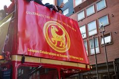 Festivities to celebrate Chinese New Year In London for year of. London, United Kingdom, 18th Febuary 2018:- Festivities to celebrate Chinese New Year in London` royalty free stock images