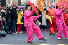 Festivities to celebrate Chinese New Year In London for year of. London, United Kingdom, 18th Febuary 2018:- Festivities to celebrate Chinese New Year in London` royalty free stock image