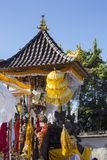 Festivities umbrellas at Hindu ceremony, Nusa Penida, Indonesia Royalty Free Stock Photography