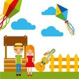 Festivity june illustration. Icon vector design graphic stock illustration