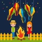 Festivity june illustration. Icon vector design graphic colorful royalty free illustration