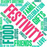 Festivity Word Cloud. On a white background royalty free illustration
