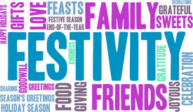 Festivity Word Cloud vector illustration