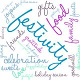 Festivity Word Cloud stock illustration