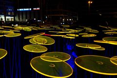 Festiwal światło, Berlin Niemcy, Ernst, - Reuter Platz Obraz Stock