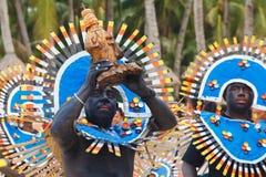 Festiwal ATI na Boracay, Filipiny Jest świętuję każdy Obrazy Stock