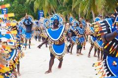 Festiwal ATI na Boracay, Filipiny Jest świętuję każdy Zdjęcie Royalty Free