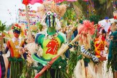 Festiwal ATI na Boracay, Filipiny Jest świętuję każdy Fotografia Stock