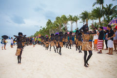Festiwal ATI na Boracay, Filipiny Jest świętuję każdy Fotografia Royalty Free
