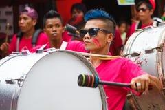Festiwal ATI na Boracay, Filipiny Jest świętuję każdy Zdjęcia Stock