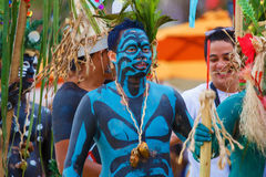 Festiwal ATI na Boracay, Filipiny Jest świętuję każdy Obraz Stock