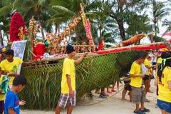 Festiwal ATI na Boracay, Filipiny Jest świętuję każdy Zdjęcia Royalty Free