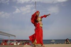 Festiwal Cumuję i chrześcijanie w mojacar Andalusia zdjęcie royalty free