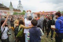 Festiwal indianin barwi Holi Obrazy Royalty Free