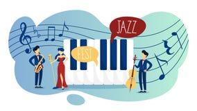 Festiwal jazzowy i akustyczny muzyka na żywo wydarzenia plakat ilustracja wektor