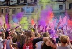 Festiwal kolorà ³ w, ZamoÅ› Ä ‡ 2017 polen Royalty-vrije Stock Foto's