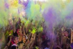 Festiwal kolory Holi Obrazy Royalty Free