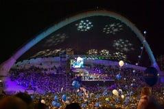 festiwal ogłoszenia Tallin razem piosenka Fotografia Royalty Free
