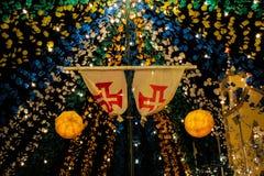 Festiwal przy Porto Santo Fotografia Royalty Free