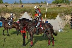 Festiwal średniowieczna odbudowa Zdjęcie Stock