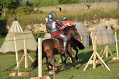 Festiwal średniowieczna odbudowa Obrazy Royalty Free