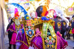 Festiwal señor De Choquekillka w Ollantaytambo zdjęcie stock