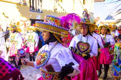 Festiwal señor De Choquekillka w Ollantaytambo obraz stock
