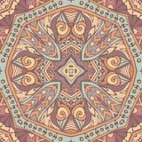 Festiwal sztuki bezszwowy wzór Etniczny geometryczny druk Kolorowa wielostrzałowa tło tekstura royalty ilustracja