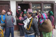Festiwal w wiosce Marpha Zdjęcie Royalty Free