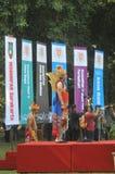 Festiwal świętuje Światową dzień turystykę w Indonezja Fotografia Royalty Free