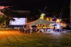Festiwalu Cine Novo Oeste który przynosi kultury i miejscowego producti zdjęcia stock