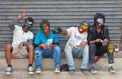 festiwalu holi Kathmandu Nepal Obrazy Royalty Free