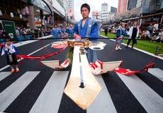 festiwalu japońscy ogion uczestnicy Obrazy Stock