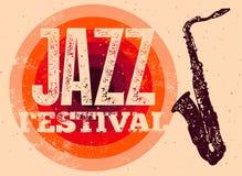 Festiwalu Jazzowego plakat Retro typographical grunge wektoru ilustracja ilustracja wektor