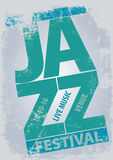 Festiwalu jazzowego plakata szablon Fotografia Stock