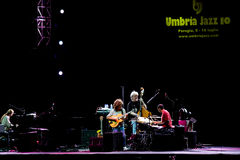 festiwalu klepnięcie grupowy jazzowy metheny Umbria zdjęcie stock