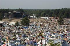 festiwalu kostrzyn przystanek woodstock zdjęcie royalty free